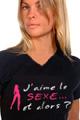 Jeux et Cadeaux T-Shirt  J'aime le Sexe - Femme.